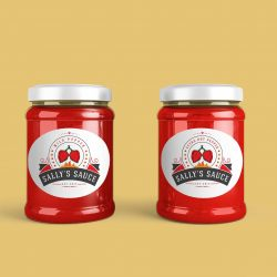 sally's pepper-sauce-mock-up-jar-yellow-background-optimised